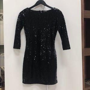Black sparkle mini dress